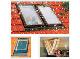 Крыша из окна и лестницы на крыше