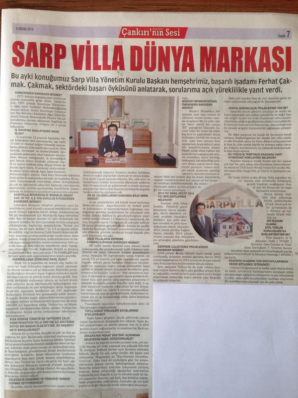 Sarp Villa dünya markası